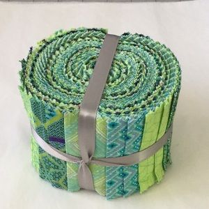 Green Jelly Roll fabric